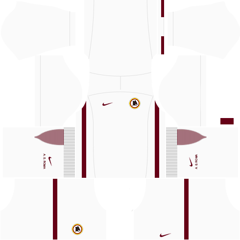 kit roma dls17 uniforme fora de casa