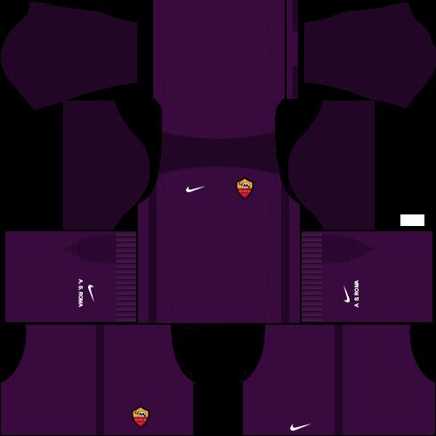 kit roma dls17 uniforme goleiro fora de casa