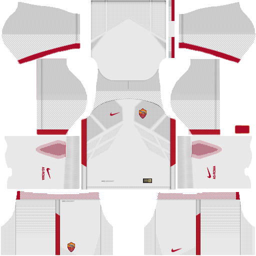 Kit AS Roma dls17 AWAY - fora de casa 17-18