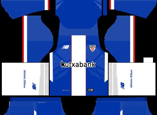 Kit Athletic Bilbao 2018 Novo Uniforme para DLS 18 – Dream League Soccer