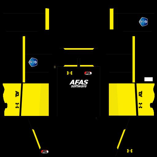 Kit Az Alkmaar dls away uniforme fora de casa 18-19