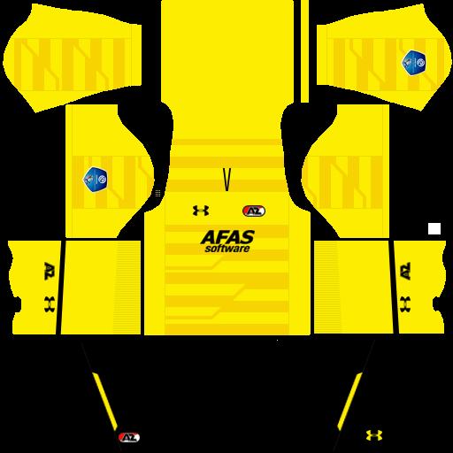 Kit Az Alkmaar dls third terceiro uniforme 18-19