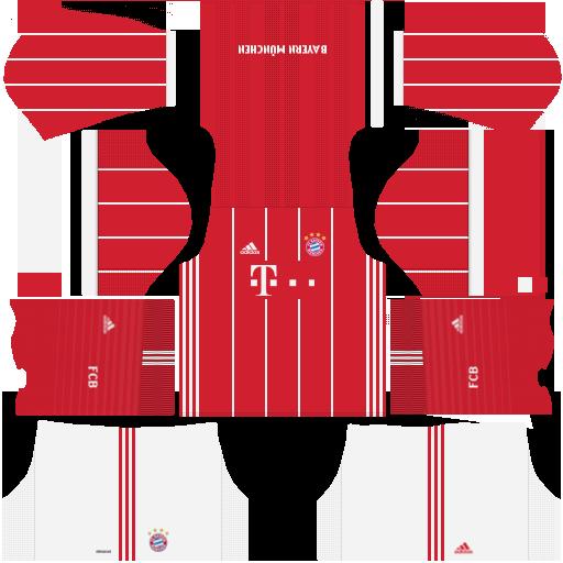 Kit Bayern Munich - Bayern de Munique dls17 home - uniforme casa