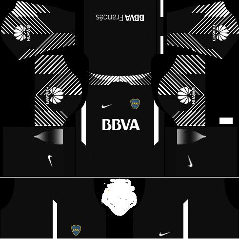 Kit-Boca-juniors-dls18-uniforme-away Gk---goleiro fora de casa