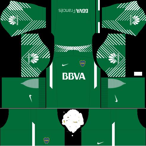 Kit-Boca-juniors-dls18-uniforme-home Gk---goleiro casa