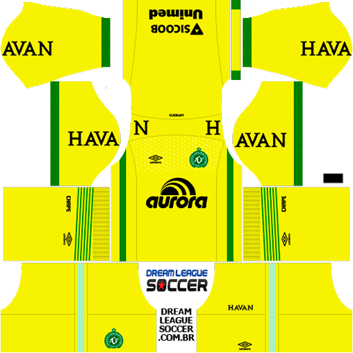 Kit-Chapecoense-dls-home-Gk-uniforme-goleiro-casa-18-19