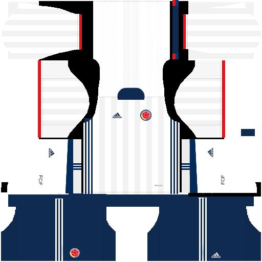 Kit Colombia dls17 alternative - uniforme alternativo
