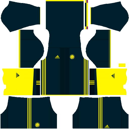 Kit Colombia dls17 away - uniforme fora de casa alternativo