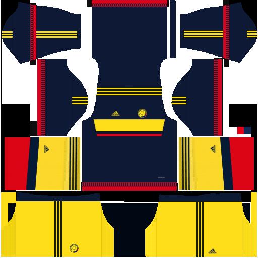 Kit Colombia dls17 away - uniforme fora de casa
