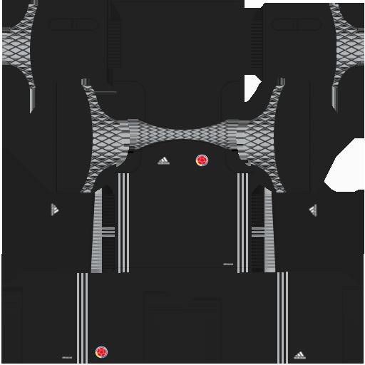 Kit Colombia dls17 home Gk - uniforme goleiro casa