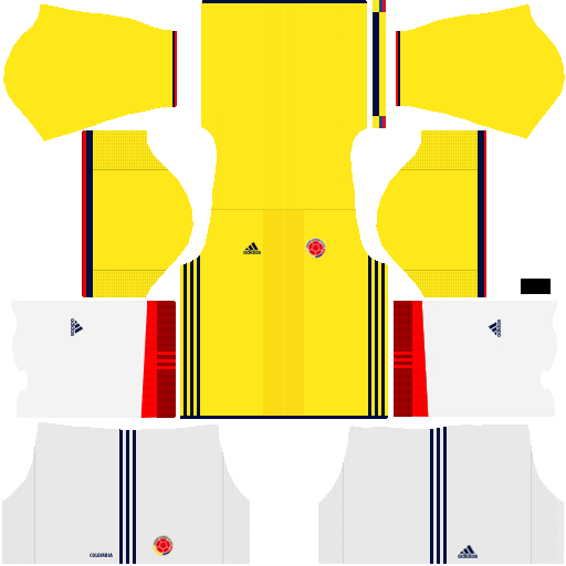 Kit Colombia dls17 home - uniforme casa alternativo
