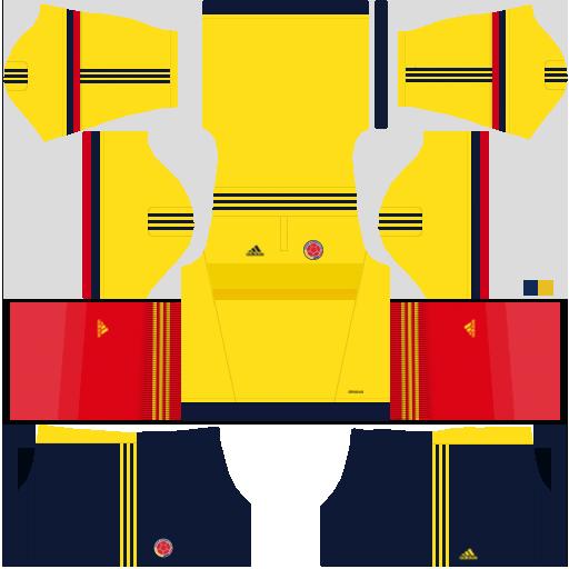 Kit Colombia dls17 home - uniforme casa