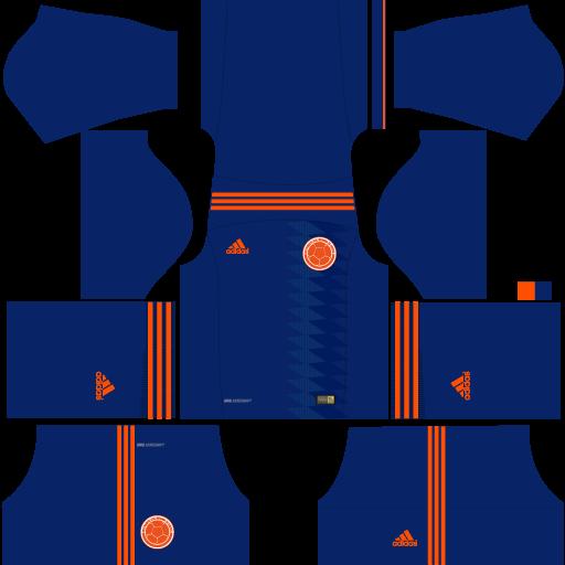 Kit-Colombia-dls18-away---uniforme-fora-de-casa-alternativo--copa-2018