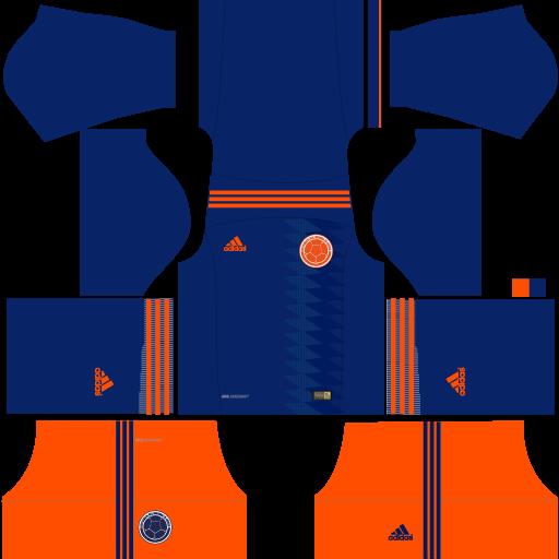 Kit-Colombia-dls18-away---uniforme-fora-de-casa---copa-2018