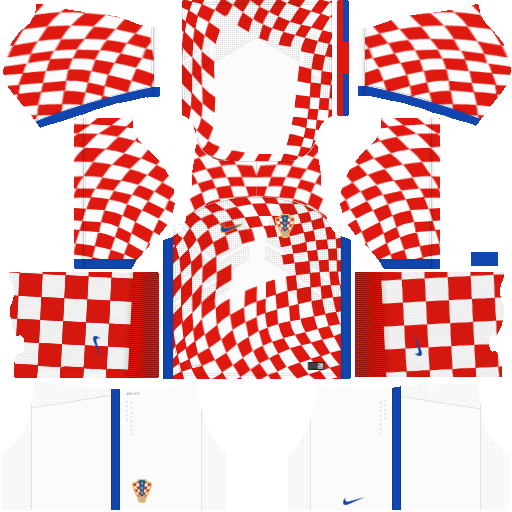 Kit Croácia - Croatia- home - uniforme casa