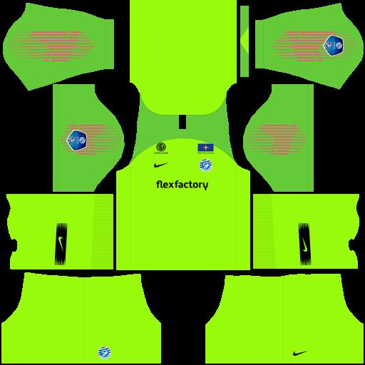 Kit Graafschap dls away Gk uniforme goleiro fora de casa 18-19