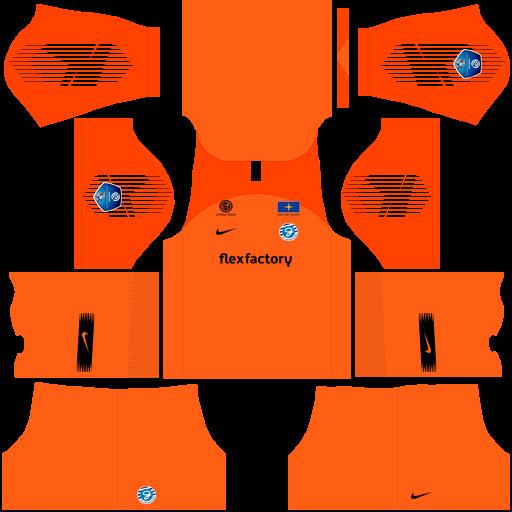 Kit Graafschap dls home Gk uniforme goleiro casa 18-19