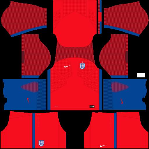 Kit Inglaterra - England dls18 away - uniforme fora de casa