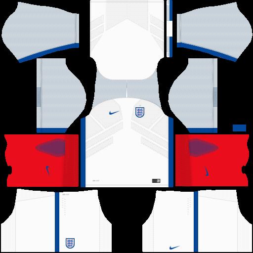 Kit Inglaterra - England dls18 home - uniforme casa