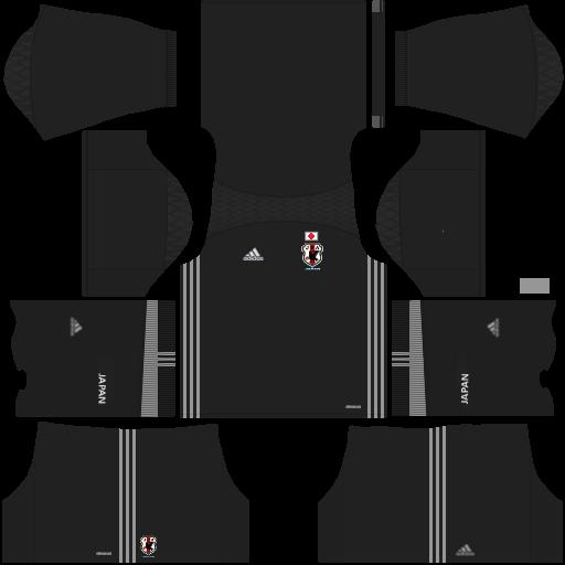 Kit Japão dls18 home Gk - uniforme goleiro casa