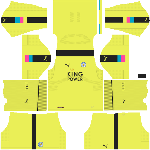 Kit Leicester City dls17 away Gk - uniforme goleiro fora de casa
