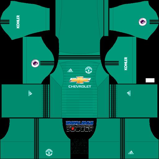 Kit-Manchester-United-dls-home-Gk-uniforme-goleiro-casa18-19