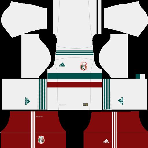 Kit-Mexico-dls18-away---uniforme-fora-de-casa---copa-2018