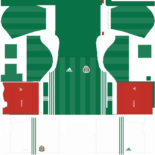 Kit Mexico dls18 home - uniforme casa - copa 2014