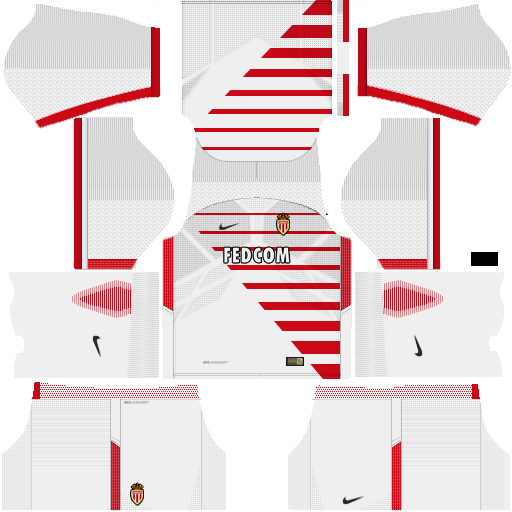Kit Monaco dls17 home - uniforme casa v2