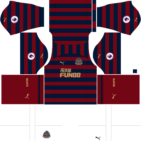 Kit Newcastle dls away - uniforme fora de casa 18-19