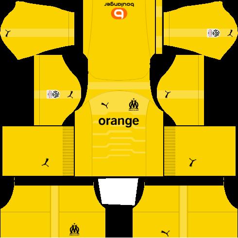 Kit-Olympique-de-Maseille-dls-home-Gk-uniforme-goleiro-casa-18-19