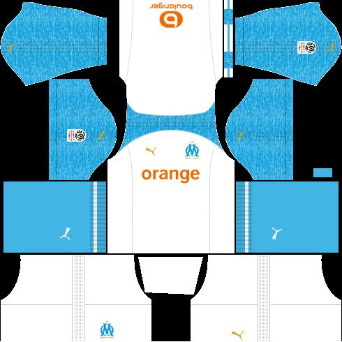 Kit-Olympique-de-Maseille-dls-home-uniforme-casa-18-19