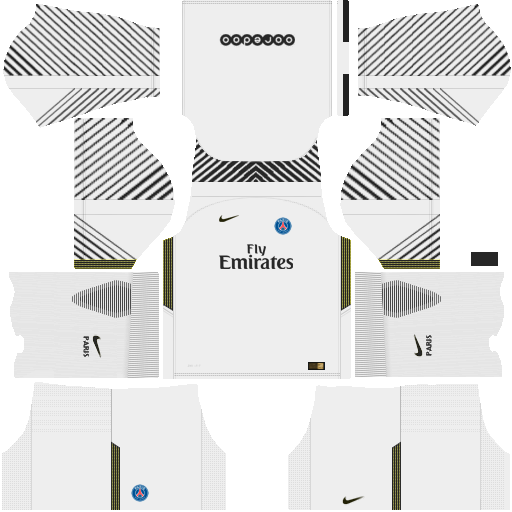 Kit PSG dls18 home Gk - uniforme goleiro casa 17-18