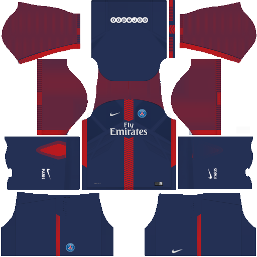 Kit PSG dls18 home - uniforme casa 17-18