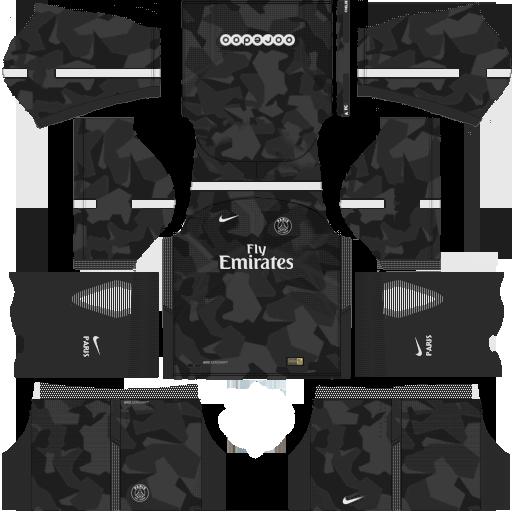 Kit PSG dls18 third - terceiro uniforme