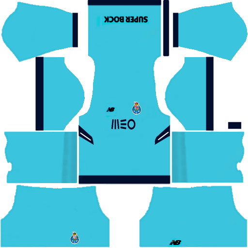Kit Porto dls17 third - terceiro uniforme 17-18