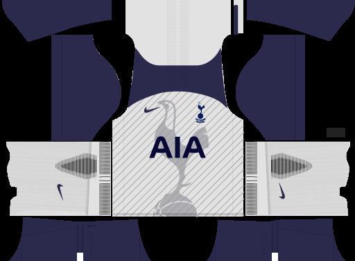 Kit Tottenham 2018 Novo Uniforme para DLS 18 – Dream League Soccer