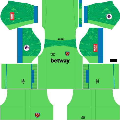 Kit-West-Ham-dls-away-Gk-uniforme-goleiro-fora-de-casa-18-19