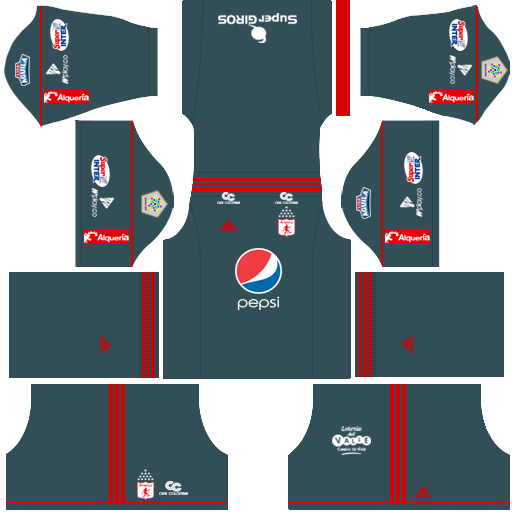 Kit america de Cali dls away - uniforme fora de casa-18-19
