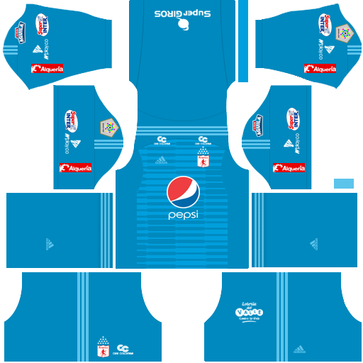 Kit america de Cali dls home Gk - uniforme goleiro casa-18-19