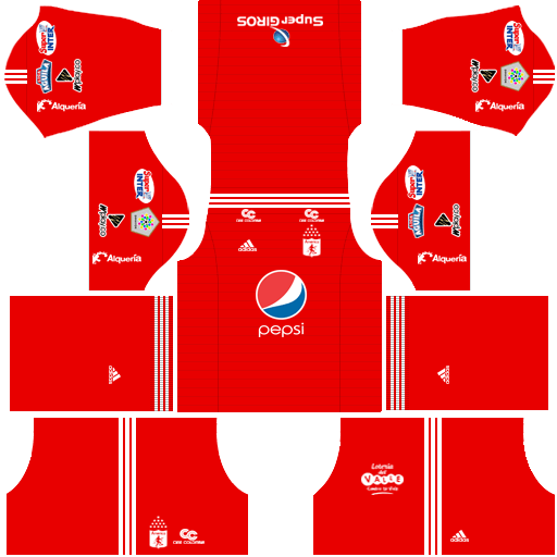 Kit america de Cali dls home - uniforme casa-18-19