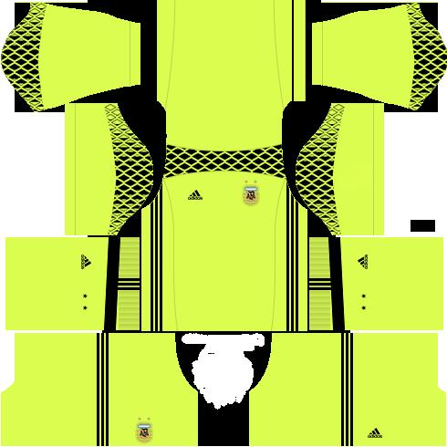 Kit argentina dls18 away Gk - uniforme Goleiro fora de casa
