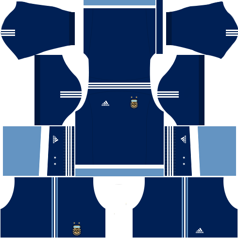 Kit argentina dls18 away - uniforme fora de casa