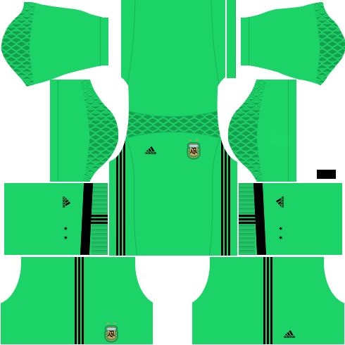 Kit argentina dls18 home Gk - uniforme Goleiro casa