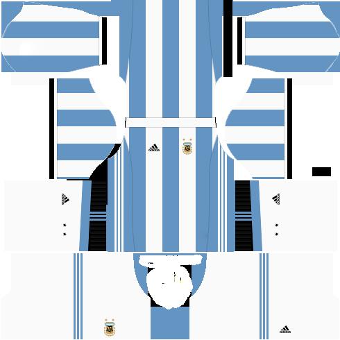 Kit argentina dls18 home - uniforme casa