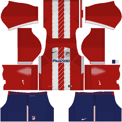 Kit atletico madrid DLS 19 home - uniforme casa 17-18