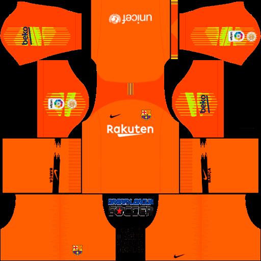 Kit Barcelona 2018/2019 Dream League Soccer kits URL 512×512