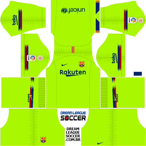 Kit Barcelona 2018/2019 Dream League Soccer kits URL 512×512 DLS 19