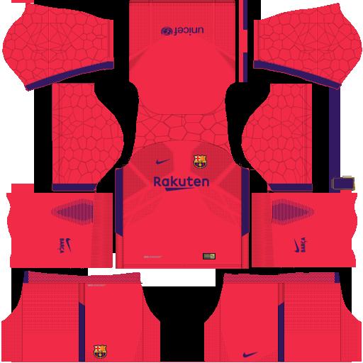 Kit barcelona fc dls17 nike kits 2017- 2018 home_gk - goleiro casa