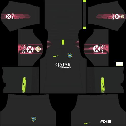 Kit-boca-juniors-dls-home-Gk-uniforme-goleiro-casa-18-19